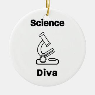 Bio diva de la Science Ornement Rond En Céramique