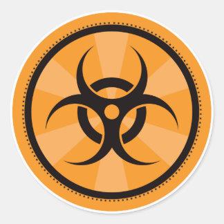 Bio-Risque - orange Sticker Rond