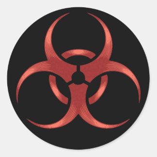 Biohazard 1 sticker rond