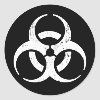 Biohazard Autocollant de contagion de zombi