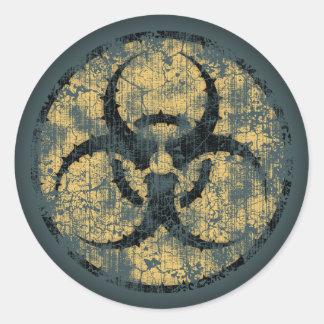 Biohazard - cercle - dist sticker rond