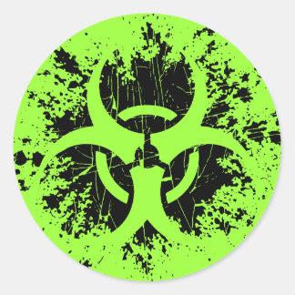 Biohazard - floc sticker rond