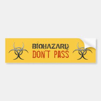 Biohazard - ne passez pas - adhésif pour pare-choc autocollant pour voiture