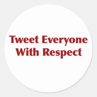 Bip chacun avec le respect sticker rond