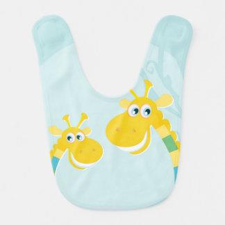 Bip de bébé avec les girafes jaunes bavoirs de bébé