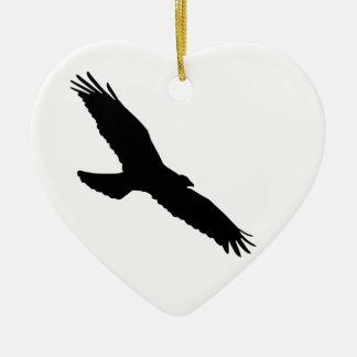 Bird - Oiseau (01) Ornement Cœur En Céramique