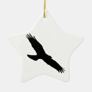 Bird - Oiseau (01) Ornement Étoile En Céramique