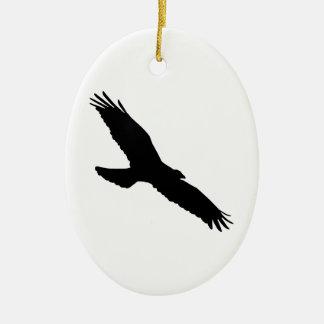 Bird - Oiseau (01) Ornement Ovale En Céramique