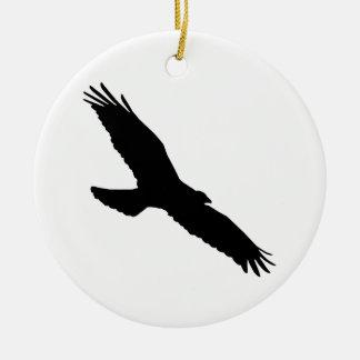 Bird - Oiseau (01) Ornement Rond En Céramique