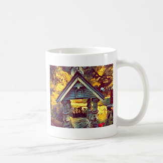 Birdfeeder extérieur photographique peint mug blanc