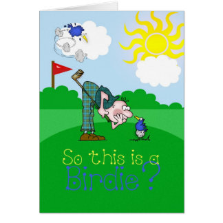 Birdie de golf de carte de fête des pères