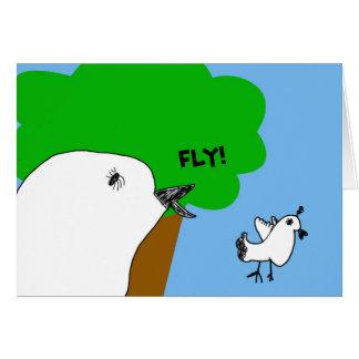 Birdie douce de mouche ! Carte de note