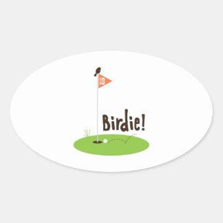 Birdie Sticker Ovale