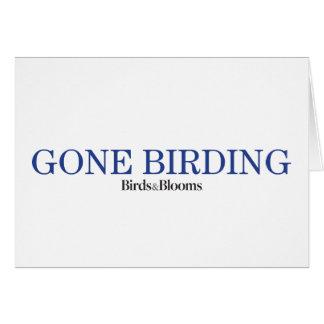 Birding allé cartes de vœux