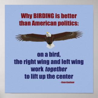Birding et affiche de la politique posters
