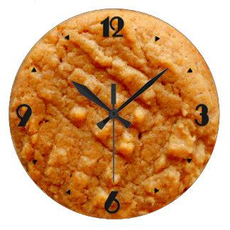 Biscuit de beurre d'arachide, Tan Grande Horloge Ronde