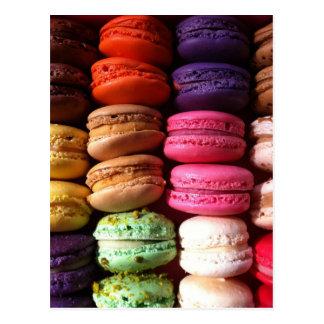 biscuits de macaron carte postale