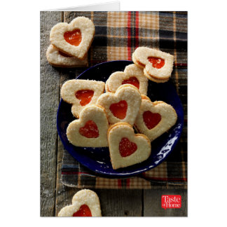 Biscuits de noix de coco d'amoureux cartes de vœux