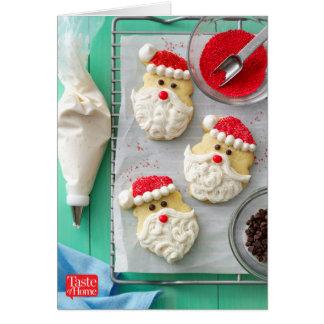 Biscuits de sucre du père noël cartes de vœux