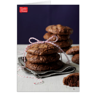 """Biscuits enormes de """"brownie"""" cartes de vœux"""