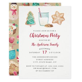 Biscuits et invitation doux de fête de Noël de