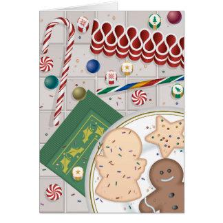Biscuits et sucrerie carte de vœux