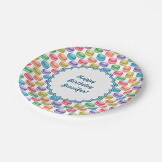 Biscuits Macarons coloré d'art de bruit Assiettes En Papier