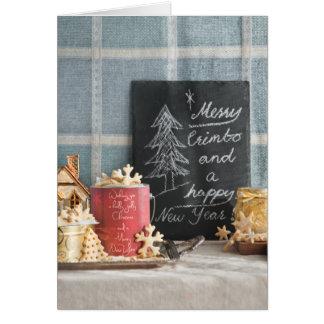 Biscuits ou biscuits de Noël Carte De Vœux