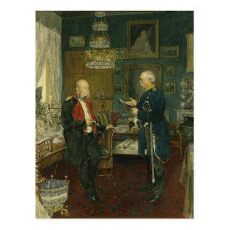 Bismarck avec l'empereur Wilhelm I Cartes Postales