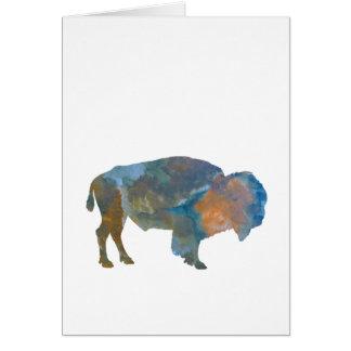 Bison Carte De Vœux