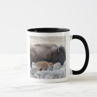 Bison de vache et de veau, Yellowstone 2 Mug