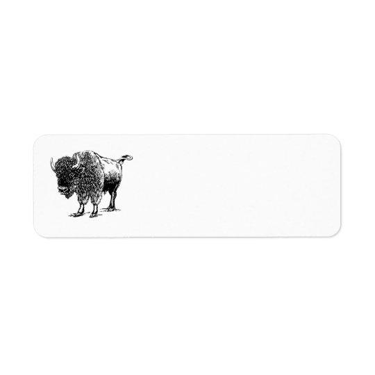 Bison Étiquette D'adresse Retour