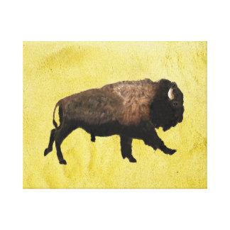 Bison galopant impression sur toile