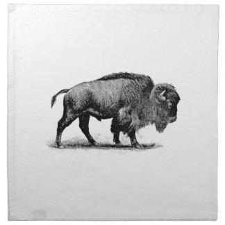 bison solitaire serviettes en tissus