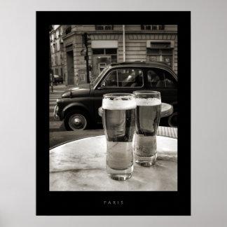 Bistros vintages de Paris - affiche