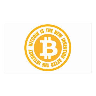 Bitcoin est la nouvelle invention après l'Internet Carte De Visite Standard