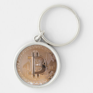 Bitcoin metallic made of copper. M1 Porte-clé Rond Argenté