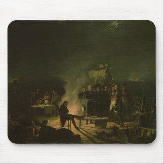 Bivouac du napoléon I sur la bataille de champ de  Tapis De Souris