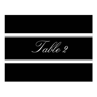 Black and White Table Number Postcard