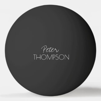 black_ball de monogramme de ping-pong balle de ping pong
