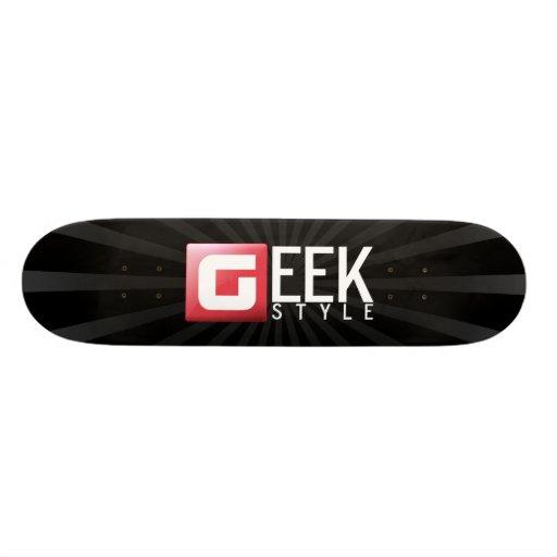 Black Geek Plateaux De Skateboards