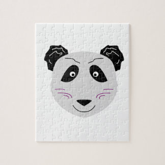Blackgrey mignon de petit panda puzzle
