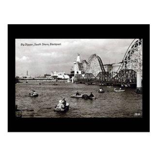 Blackpool, le grand huit carte postale