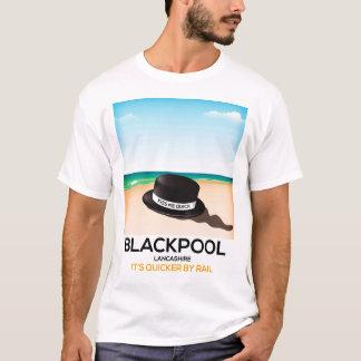 """Blackpool """"m'embrassent vite"""" affiche de train de t-shirt"""