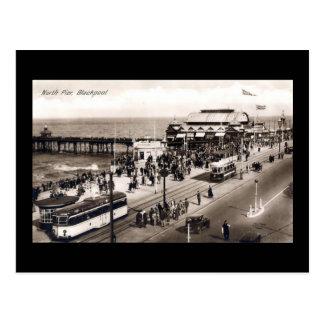 Blackpool, pilier du nord carte postale
