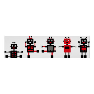 BlackRobot4 Posters