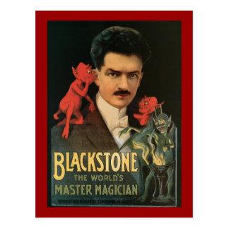 Blackstone vintage le magicien principal du monde carte postale