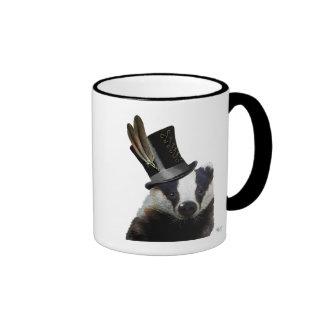 Blaireau de Steampunk dans le chapeau supérieur Mug Ringer