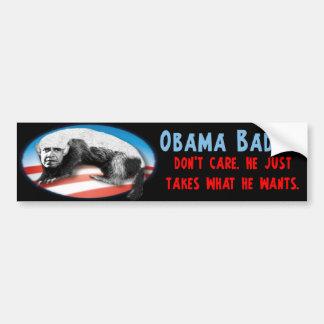 Blaireau d'Obama - prend juste ce qu'il veut Autocollant Pour Voiture