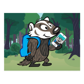 Blaireau Selfie de boomer du raton laveur   de Carte Postale